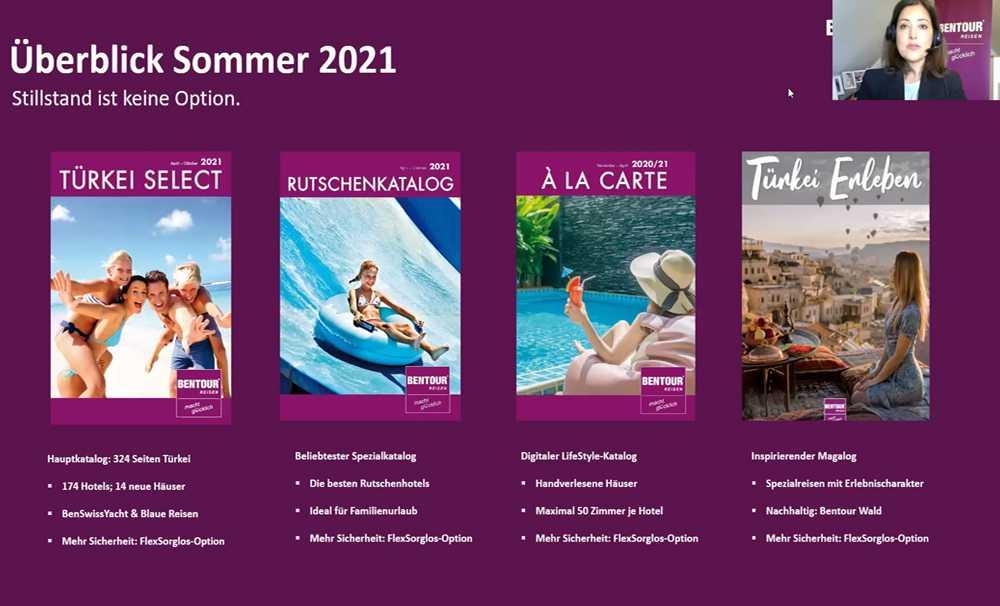 Bentour Reisen 2021 Yaz programını online tanıttı