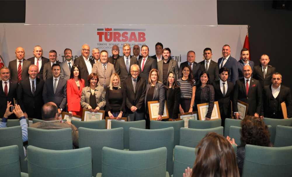 TÜRSAB'IN 24. Dönem Yönetim Kurulu Üyeleri Düzenlenen Törenle Mazbatalarını Aldı