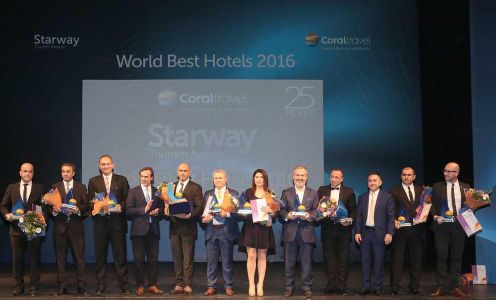 Coral Travel, Starway World Best Hotels 2016 ile en iyi otellerini Moskova'da ödüllendirdi