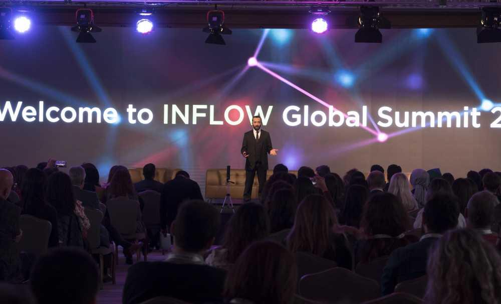 Dünyaca ünlü isimler INFLOW Global Summit'de bir araya geldi