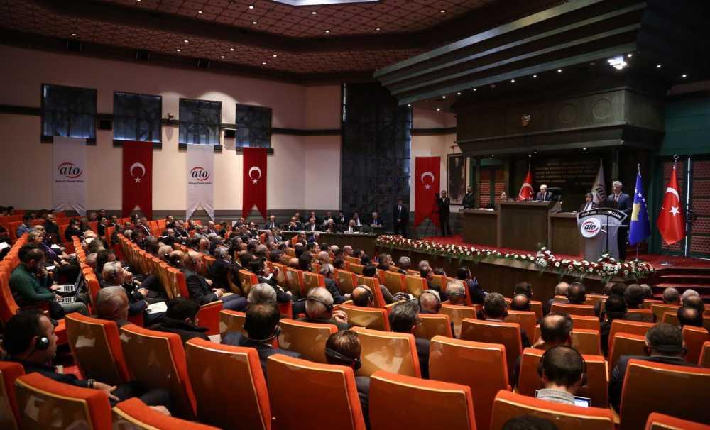 Kosova Cumhurbaşkanı Taçi ATO Meclisi'ne hitap etti
