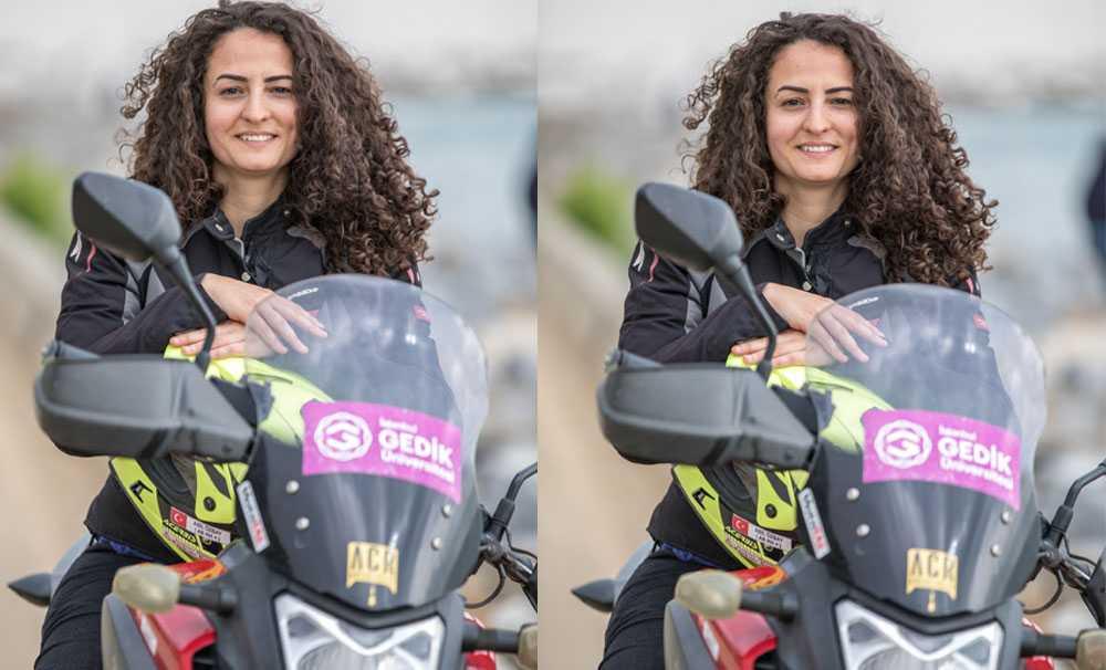 1 Kadın 1 Motosiklet 1 Dünya