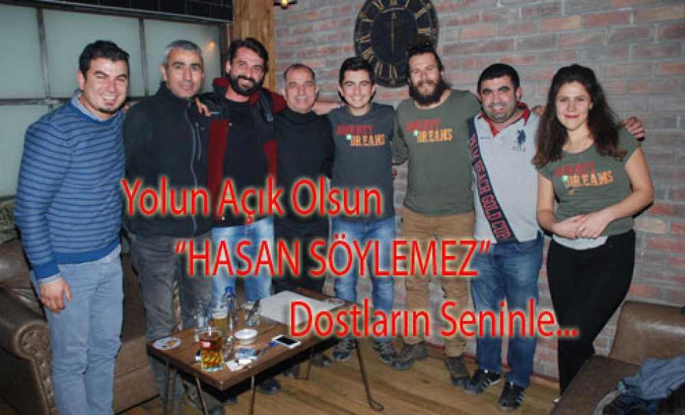 Hasan Söylemez; dostlarıyla Kadıköy'de vedalaştı