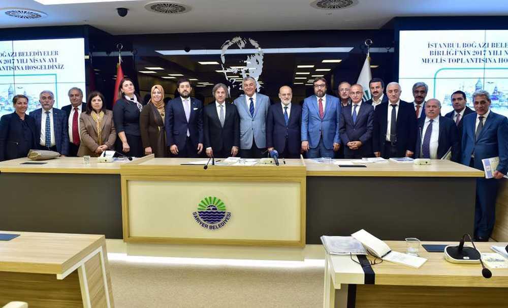 İstanbul Boğazı Belediyeler Birliği üyeleri, Sarıyer Belediyesi'nin ev sahipliğinde toplandı