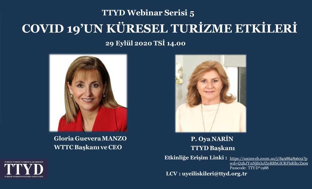 TTYD, WTTC ile COVID 19'un küresel turizme etkilerini konuştu