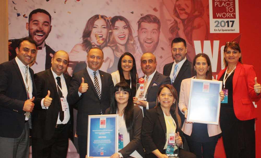 """Hilton üst üste ikinci kez """"Türkiye'nin En İyi İşvereni"""" seçildi"""