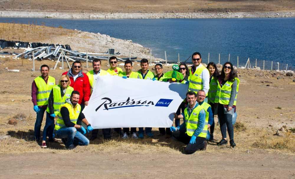Radisson Blu Hotel Kayseri'den,Yamula Barajı'nda çöp toplama etkinliği