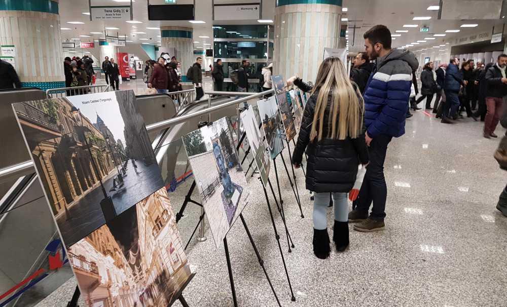 Yenikapı Metro İstasyonu içinde bir fotoğraf sergisi açıldı
