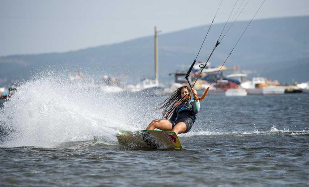 Gisela Pulido,Ege kıyılarında hem rüzgâra meydan okudu