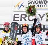 Erciyes'te yapılan Dünya Snowboard Kupası'nda şampiyonlar belirlendi