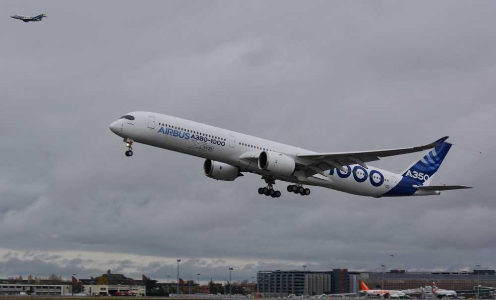 A350-1000, ilk uçuşu için Toulouse Bagnac'tan Havalandı