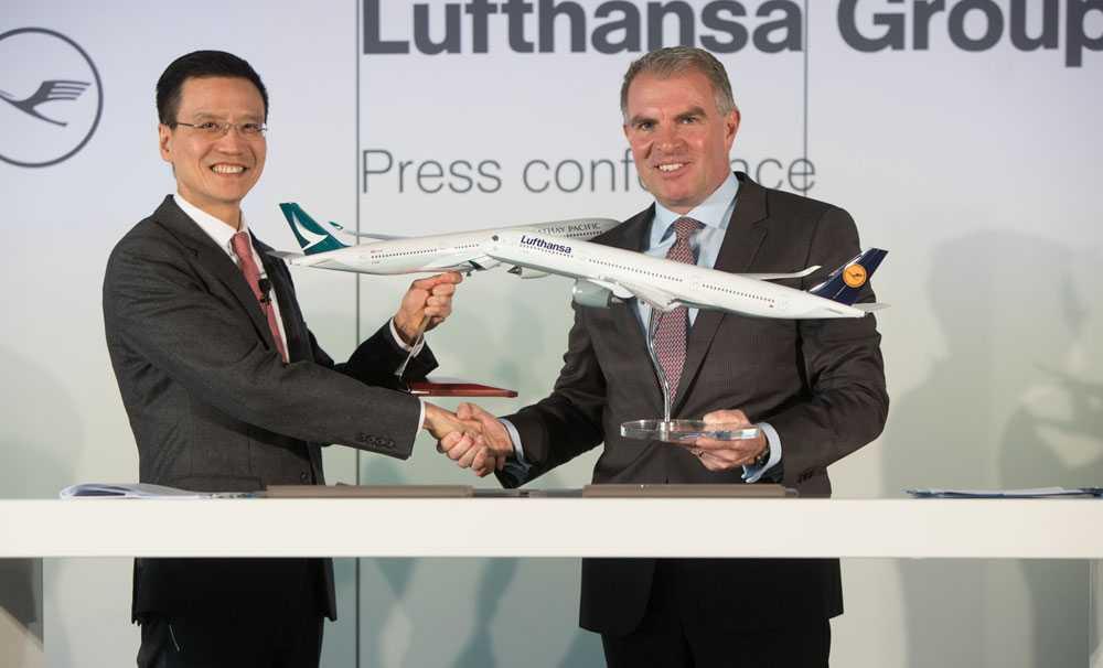 Cathay Pacific Airways ve Lufthansa Group'tan işbirliğ