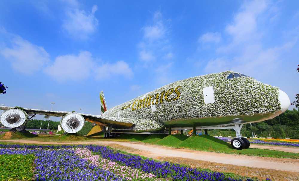 Emirates A380, Dubai Miracle Garden'da Çiçek Açtı