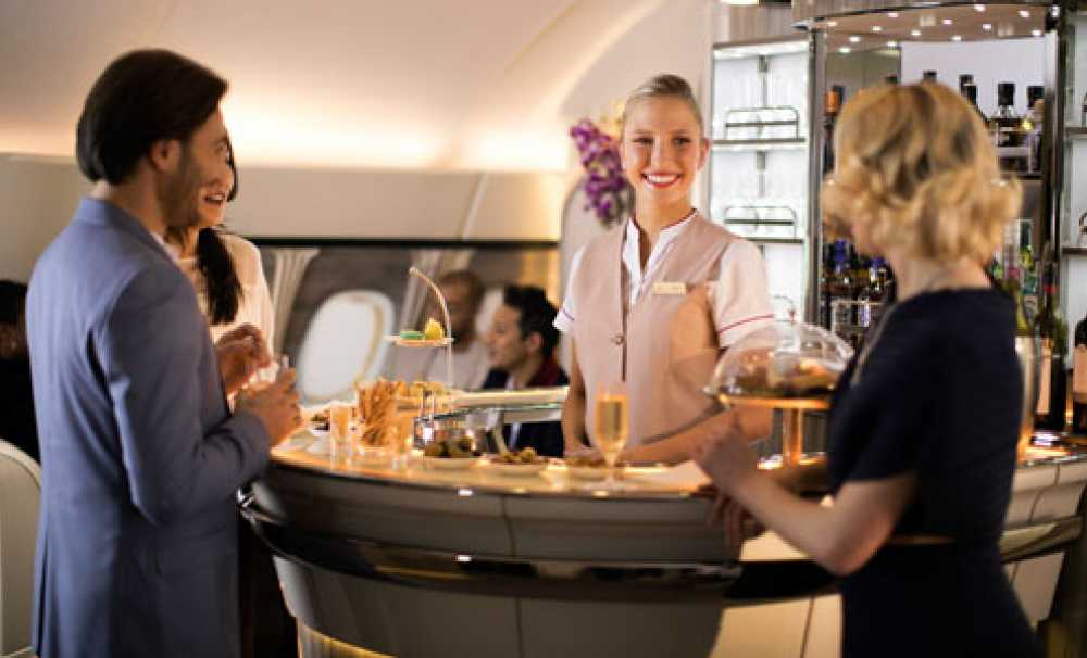 Emirates, Geliştirilmiş A380 Uçak İçi Dinlenme Salonu'nuITB Berlin'de Vitrine Çıkarıyor