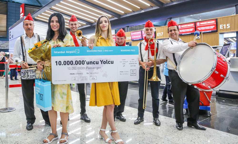 İstanbul Havalimanı 57 günde 10 milyon yolcu ağırladı
