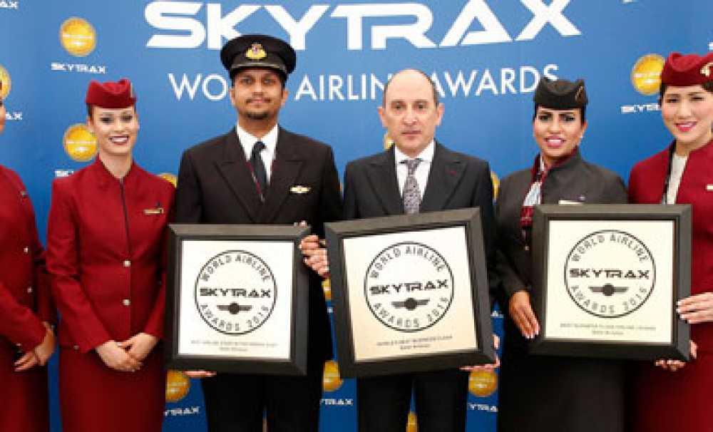 Qatar Airways, 2016 Skytrax Dünya Havayolu Ödül Töreni'nde üç ayrı dalda ödül aldı