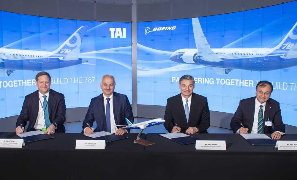 TUSAŞ-Türk Havacılık ve Uzay Sanayii A.Ş. ve Boeing Ortaklığı, İmzalanan Sözleşme ile Güçleniyor