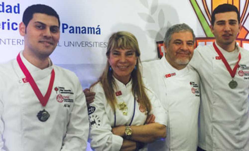 BİLGİ Gastronomi Öğrencileri Panama'dan Altın Madalya ile Döndü